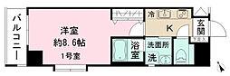 千葉県船橋市本町4丁目の賃貸マンションの間取り