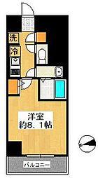 SHOKEN Residence東京八広 5階1Kの間取り