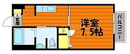 岡山県総社市溝口の賃貸アパートの間取り