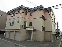 北海道札幌市北区百合が原8丁目の賃貸アパートの外観