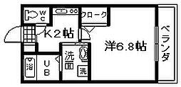 セジュールZENZO A棟[203号室]の間取り