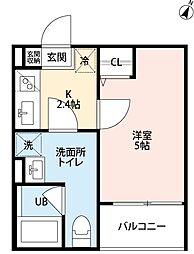 兵庫県神戸市長田区苅藻通1丁目の賃貸アパートの間取り