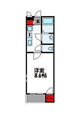 クレイノプレゾン[1階]の間取り