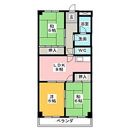 アムール21[1階]の間取り