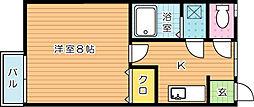 ミルフィーユI[1階]の間取り