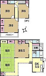 [一戸建] 茨城県水戸市渋井町 の賃貸【/】の間取り