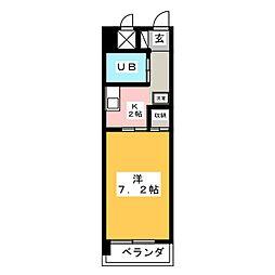 メゾンドゥ六番[5階]の間取り