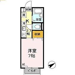 東京都国分寺市東恋ヶ窪2丁目の賃貸アパートの間取り