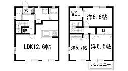 [テラスハウス] 兵庫県川西市鴬の森町 の賃貸【/】の間取り