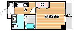 JR京葉線 舞浜駅 徒歩18分の賃貸マンション 1階1Kの間取り