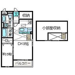 エヴァーハイム[2階]の間取り