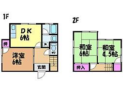 [一戸建] 愛媛県松山市古川西3丁目 の賃貸【愛媛県 / 松山市】の間取り