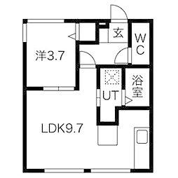 マンション鈴蘭[2階]の間取り