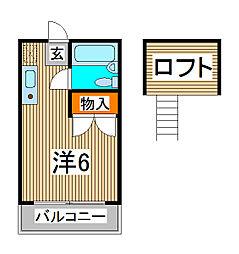 セントラルハイム[1階]の間取り