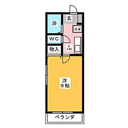 クレール藤ヶ丘[1階]の間取り