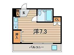 メゾン大角[2階]の間取り