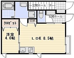 Crest House[101号室]の間取り