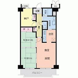 ホワイトマンション[0703号室]の間取り