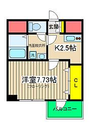 T&A横浜白金[105号室]の間取り