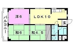 TAKAOマンション[507 号室号室]の間取り