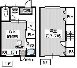 [テラスハウス] 大阪府和泉市浦田町 の賃貸【/】の間取り