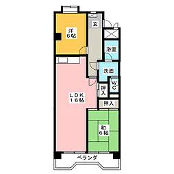 リバーサイド横地[1階]の間取り