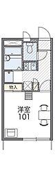 近鉄南大阪線 恵我ノ荘駅 徒歩26分の賃貸アパート 2階1Kの間取り