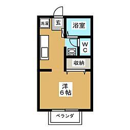 メルグリーン[2階]の間取り