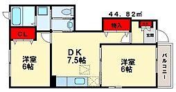 グラビスKII[1階]の間取り