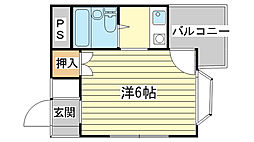 コーポ倉敷[202号室]の間取り