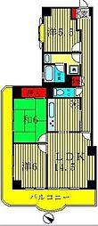 ライオンズマンション北小金[2階]の間取り