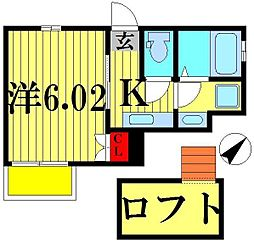 ベイシティ松戸小山II[201号室]の間取り