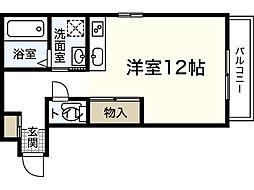RIVERE吉島 1階ワンルームの間取り