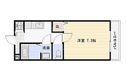 大阪府大阪市平野区平野本町1丁目の賃貸アパートの間取り