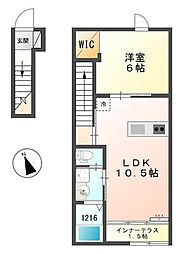 兵庫県姫路市別所町佐土3丁目の賃貸アパートの間取り