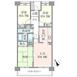 コーポレート鷺沼[106号室]の間取り
