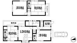 [一戸建] 兵庫県川西市新田1丁目 の賃貸【/】の間取り