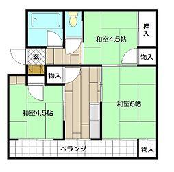 森田第一マンション[2階]の間取り