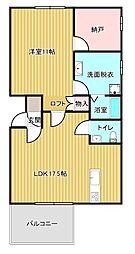 ドゥ—ホーム別所[401号室]の間取り