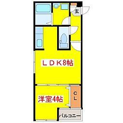肥薩おれんじ鉄道 上川内駅 3.5kmの賃貸アパート 1階1LDKの間取り
