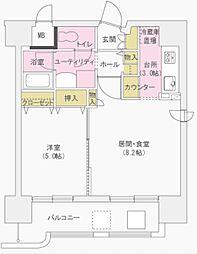 コンフォーレ三貴[406号室]の間取り