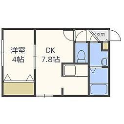 TSUBAKISQUARE大通公園東[303号室]の間取り