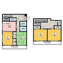 高島屋マンションII[5階]の間取り