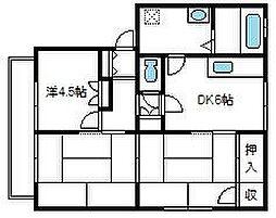 埼玉県さいたま市桜区大久保領家152の賃貸アパートの間取り