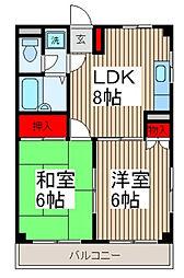 Fハウス[1階]の間取り