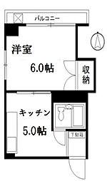 杵渕ビル[4A号室]の間取り