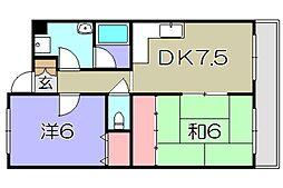 comfort西中野[1階]の間取り