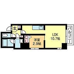 北海道札幌市北区北七条西6丁目の賃貸マンションの間取り
