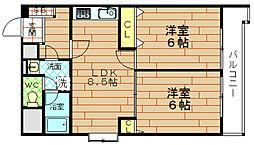 富士プラザ2中央[2階]の間取り