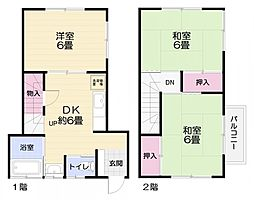 [一戸建] 神奈川県横須賀市西浦賀3丁目 の賃貸【/】の間取り
